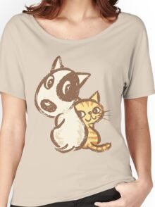 Dog and cat are turning around Women's Relaxed Fit T-Shirt