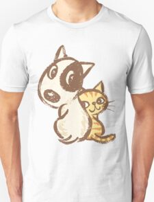 Dog and cat are turning around Unisex T-Shirt