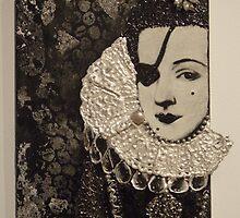 Lady in a Spanish ruff - with eyepatch. by Ian A. Hawkins