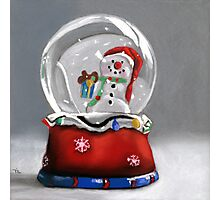 Snow globe - christmas painting Photographic Print