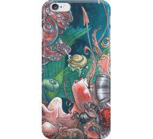 Mermaid's Breakfast - Watercolor painting iPhone Case/Skin