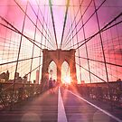 New York City - Brooklyn Bridge Sunset by Vivienne Gucwa