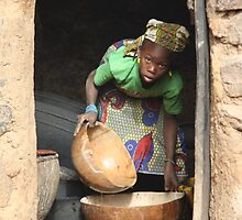 Girl with the Calabash bowls by Catherine Watson