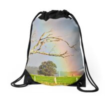 Heart of the Rainbow Drawstring Bag