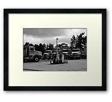 Stormy Trucks Framed Print