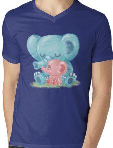 Family of elephant Mens V-Neck T-Shirt