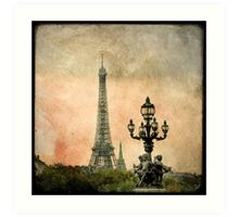 The Angels of the Eiffel Tower Art Print