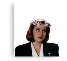 Flower Crown Scully Canvas Print