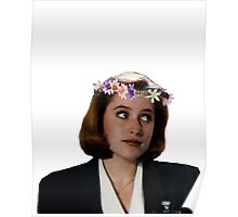 Flower Crown Scully Poster