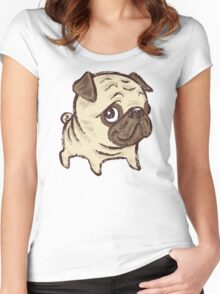 Pug puppy Women's Fitted Scoop T-Shirt