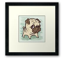 Pug puppy Framed Print
