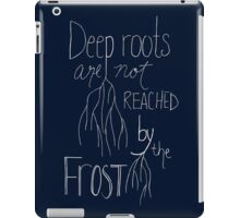 Deep roots - White Font iPad Case/Skin