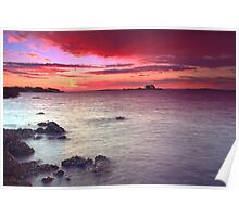 Soldiers Point Sunset Poster