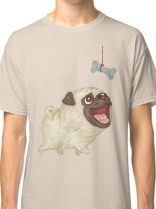Happy Pug and bone Classic T-Shirt