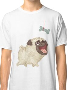 Happy Pug and bone Classic T-Shirt