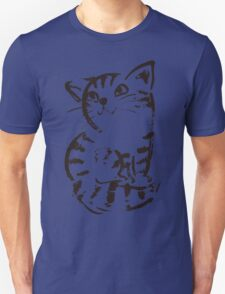 sketch of cat looks up T-Shirt