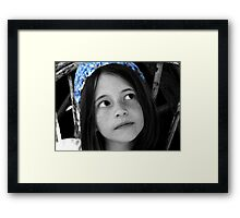 A look to the future  Framed Print