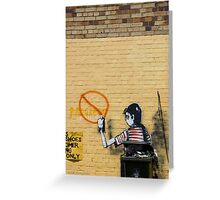 Graffiti, The Valley Greeting Card