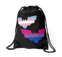 Bi Trans Pride Bats Drawstring Bag