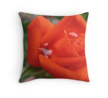The tears of a Rose Throw Pillow
