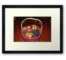 Christmas Basket Framed Print