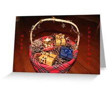Christmas Basket Greeting Card