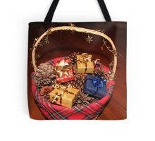 Christmas Basket Tote Bag