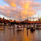 Brisbane River @ dusk.. Australia by Ali Brown