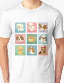 Many poses of puppies Unisex T-Shirt