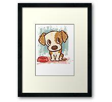 Sitting puppy Framed Print