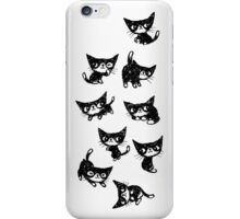 Nine poses of kitten iPhone Case/Skin
