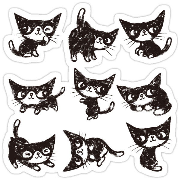 Nine poses of kitten by Toru Sanogawa