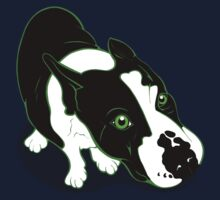 Mr Bull Terrier Green One Piece - Long Sleeve