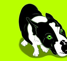 Mr Bull Terrier Green by Sookiesooker