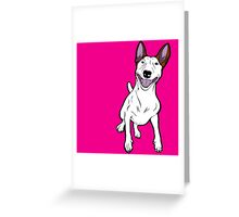 Excited Bull Terrier  Greeting Card
