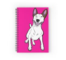 Excited Bull Terrier  Spiral Notebook