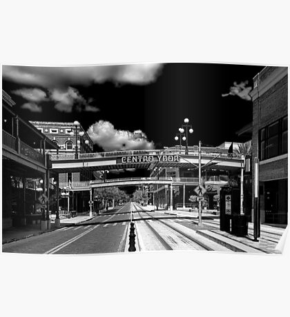Ghost Town Ybor City Revisited  B/W Poster