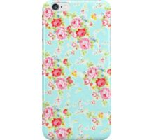 Vintage floral roses print rose flowers pretty pattern iPhone Case/Skin