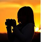 camera shot silhouette sunrise by Coralie Plozza