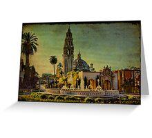 Sunset On El Prado Greeting Card