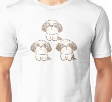 Three Shih Tzu Unisex T-Shirt