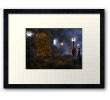 A night a long time ago Framed Print