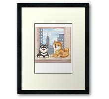 Shiba in NY Framed Print