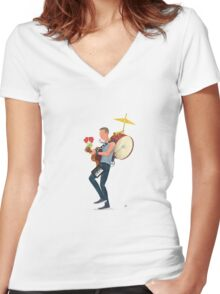 A Sky full of stars Women's Fitted V-Neck T-Shirt