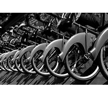 Bicycles in Paris, France Photographic Print