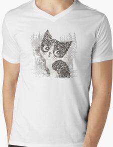 Portrait of a kitten Mens V-Neck T-Shirt