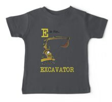E is for Excavator Baby Tee