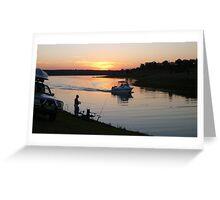 Fishing at Sunset, Lake Boondooma Greeting Card