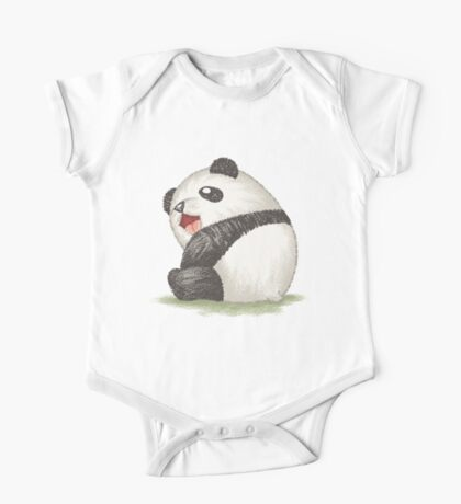 Happy panda sitting Kids Clothes