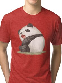 Happy panda sitting Tri-blend T-Shirt
